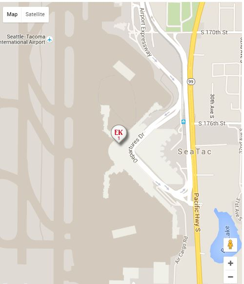 Seattle Map Airport.Usa Seattle Map Airlines Airports