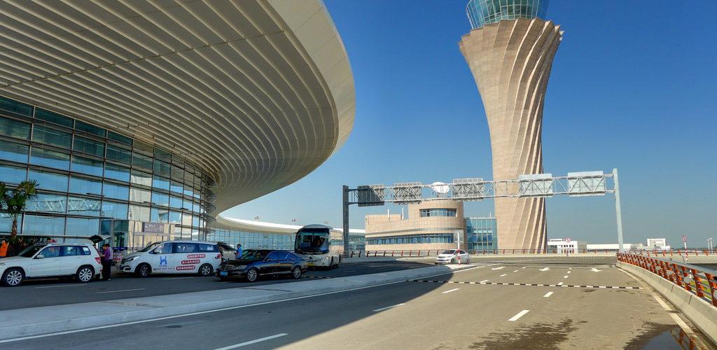 Yantai Penglai International Airport in Yantai, China