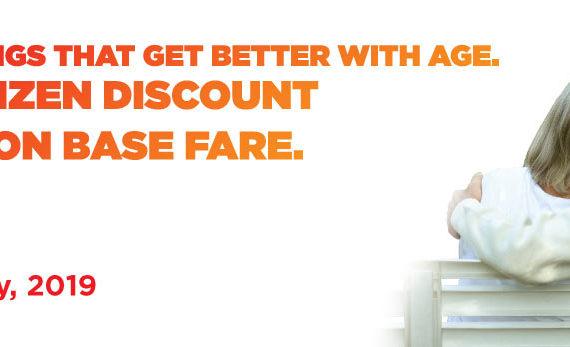 flight fare concession for senior citizen